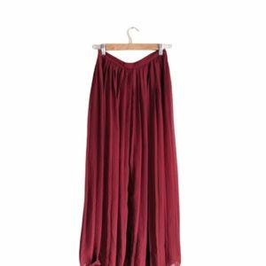 UO Sparkle & Fade Maroon Midi Skirt